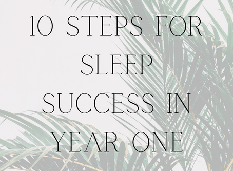 10 Steps for Sleep Success in the First Year