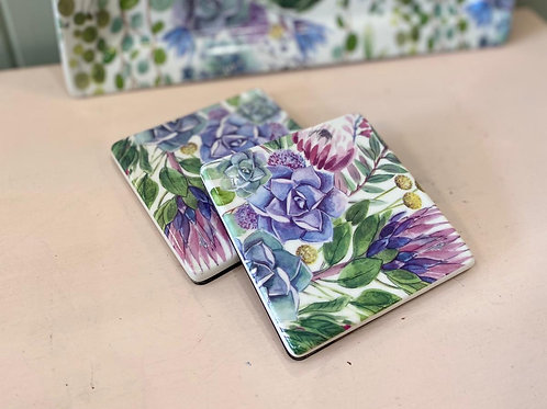 Set of Floral Coasters