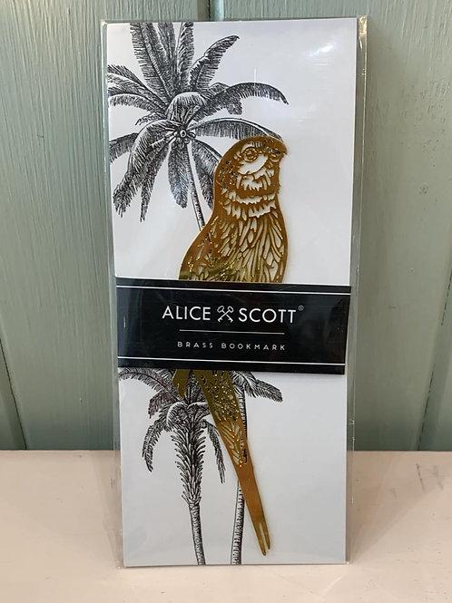 Alice Scott Brass Bookmark