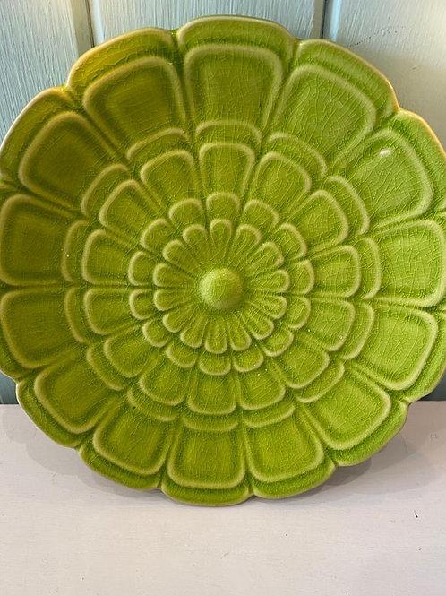 Green Granny Chic Retro Plate