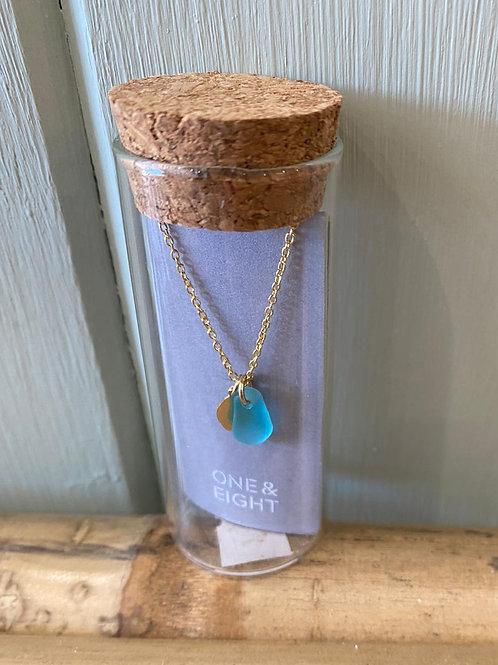 One & Eight Aqua Necklace