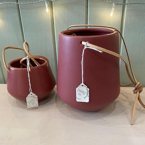 LARGE Red Skittle Pot