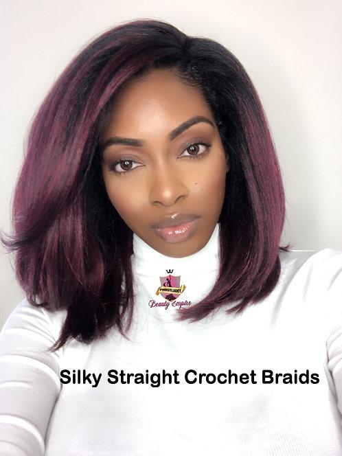 Silky Straight Crochet Hair