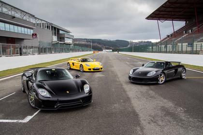Porsche 918 and Carrera GT