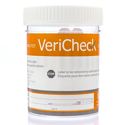 12 Panel - Urine Cup Test - VeriCheck (25 Cups per Pack)