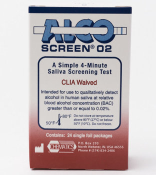 Alco Screen 4 Minute Alcohol Test D.O.T. Approved (24 Testper Box)