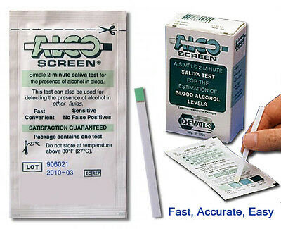 Alco Screen 2 minute Alcohol Test ( 24 Test per Box)