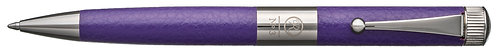 No.3 Ballpoint Pen Leather Barrel Gunmetal Plating Clip Purple
