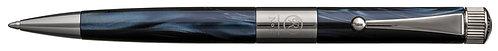 No.3 Ballpoint Pen Slim Barrel Gunmetal Plating Clip Dark Blue