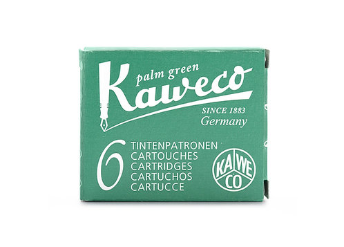 Kaweco Ink Cartridges 6-Pack Palm Green