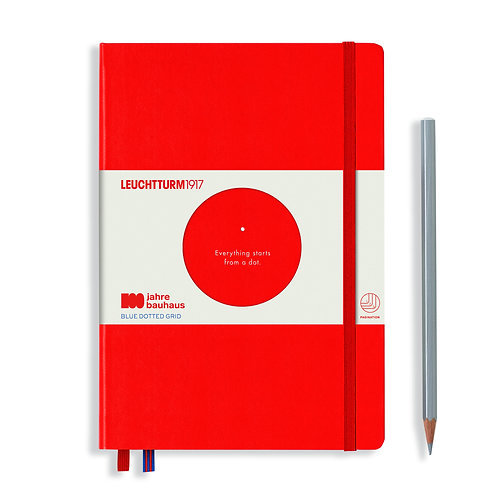 Leuchtturm1917 100 Years Bauhaus Notebooks Red