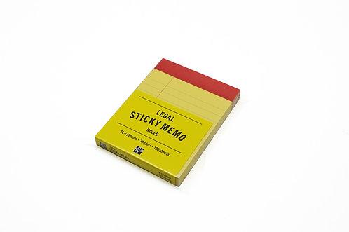 Legal Sticky Memo 74x100mm