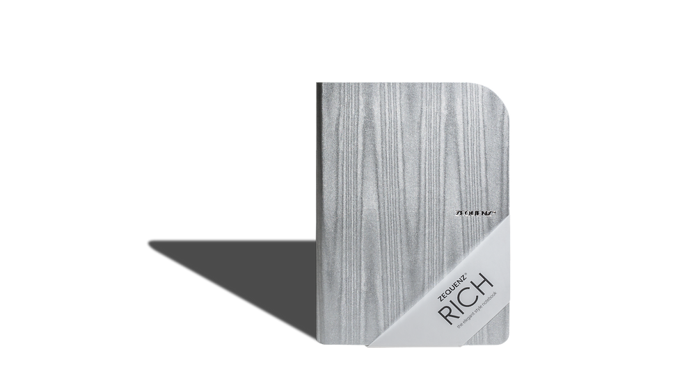 ZEQUENZ Rich A5 Acasia Gray Curved Binding