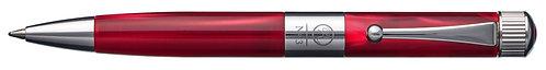No.3 Ballpoint Pen Mini Barrel Gunmetal Plating Clip Red