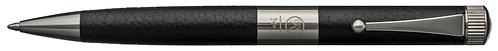 No.3 Ballpoint Pen Leather Barrel Gunmetal Plating Clip Black