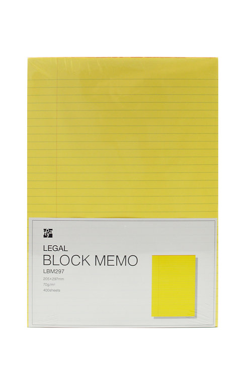 Legal Block Memo 205×297mm Ruled