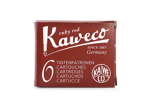 Kaweco Ink Cartridges 6-Pack Ruby Red