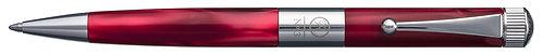 No.3 Ballpoint Pen Slim Barrel Gunmetal Plating Clip Red