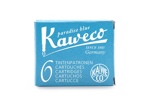 Kaweco Ink Cartridges 6-Pack Paradise Blue