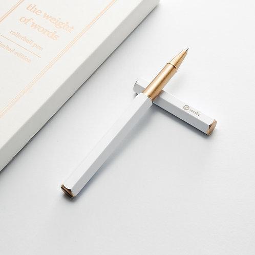 Y Studio White Rollerball Pen