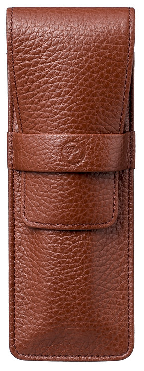 Flap Covered Pen Sheath for 2 Brown