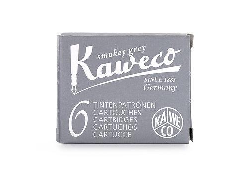Kaweco Ink Cartridges 6-Pack Smoky Grey