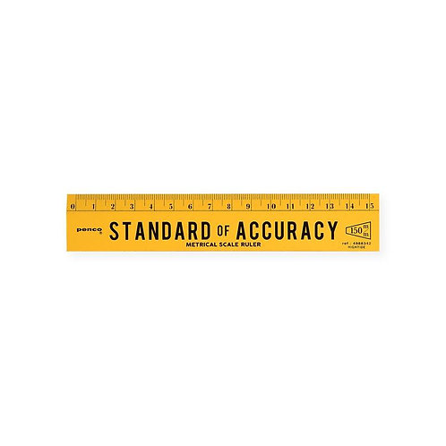 Penco Standard of Accuracy 15 cm Ruler Yellow