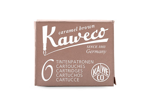 Kaweco Ink Cartridges 6-Pack Caramel Brown