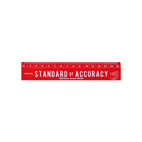 Penco Standard of Accuracy 15 cm Ruler Red