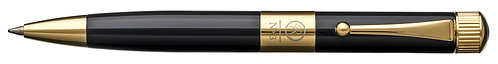 No.3 Ballpoint Pen Mini Barrel Gunmetal Plating Clip Black