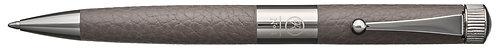 No.3 Ballpoint Pen Leather Barrel Gunmetal Plating Clip Gray