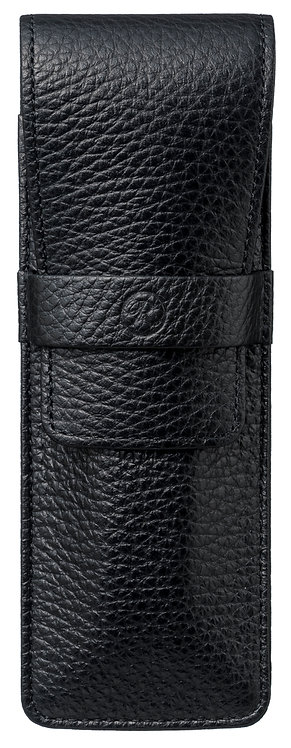 Flap Covered Pen Sheath for 2 Black