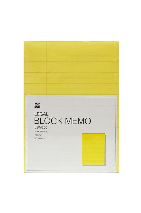 Legal Block Memo 148×205mm Ruled