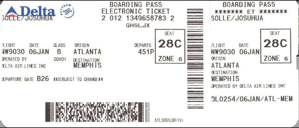 Boarding Pass Delta