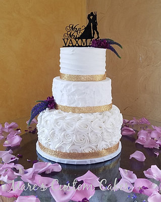 3 Tier Textured Wedding Cake