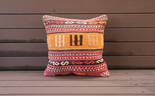 Lina Kilim Embroidered Pillow