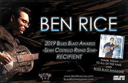 Ben Rice Blues Blast Rising Star Recipie