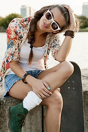 Teenager Girl with Fashion