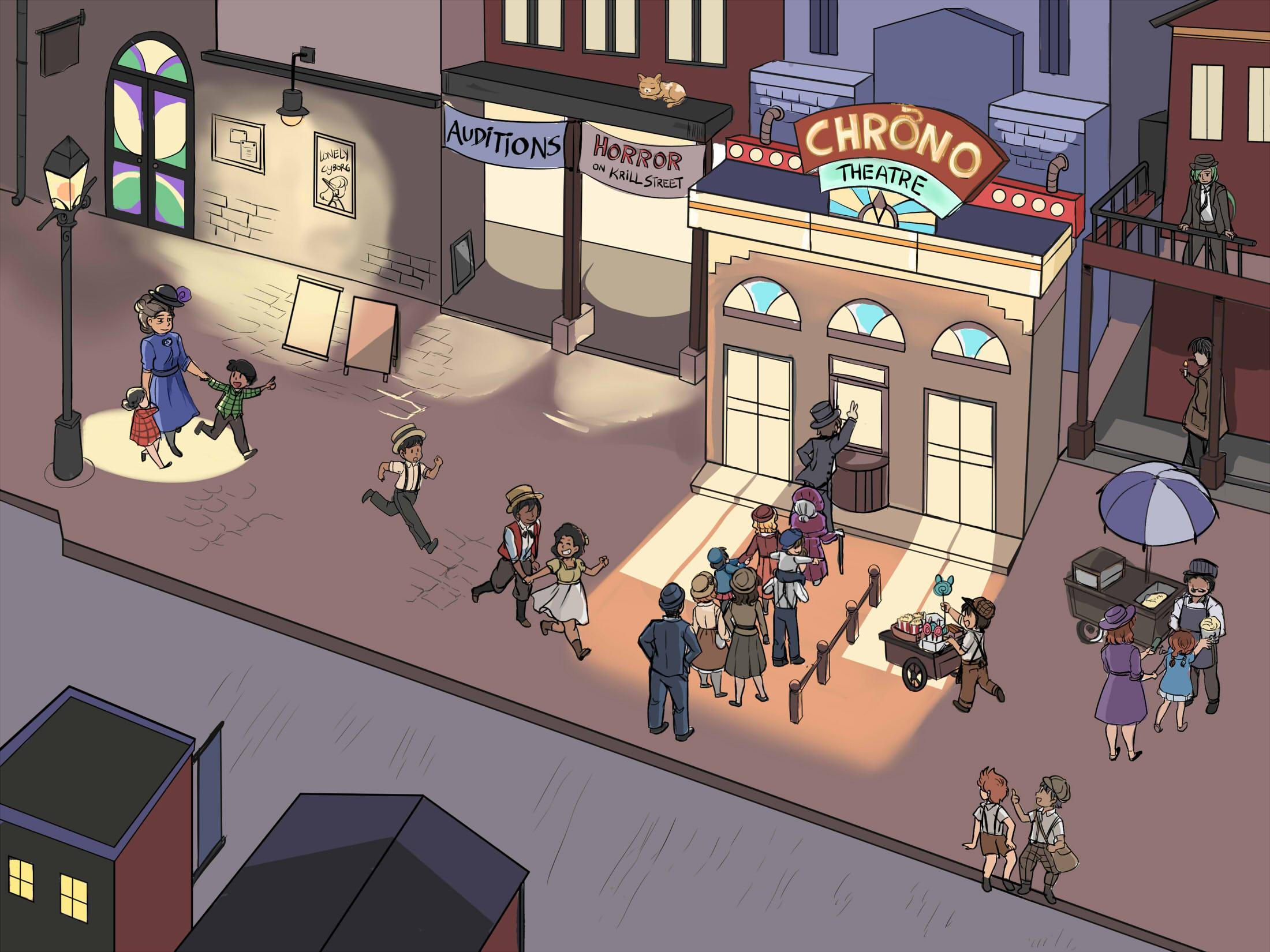 Chrono Theater - Crowd scene