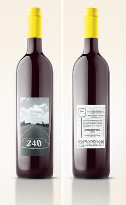 240 Wine label