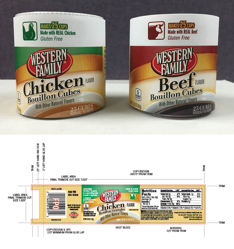 Western Family Bouillon Packaging