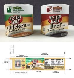 Western Family Bouillon Packaging