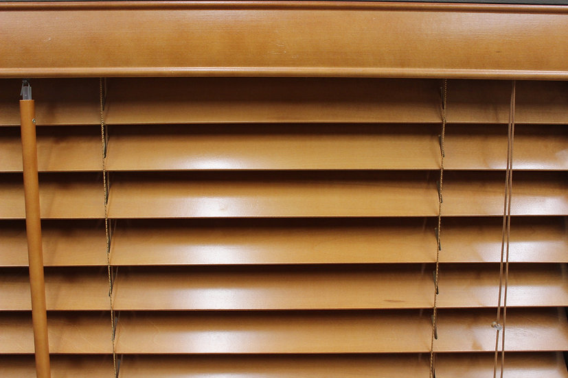 2 inch Bass Wood Blinds, Color Ambra
