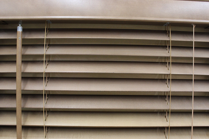 2 inch Bass Wood Blinds, Color Latte