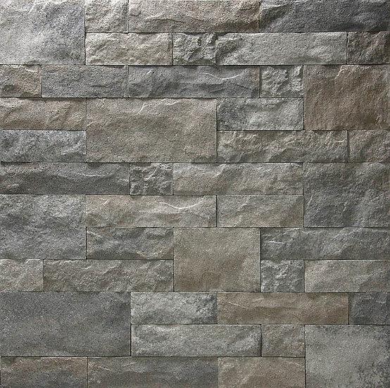 Outdoor/Indoor wall stone Drystack in Charcoal