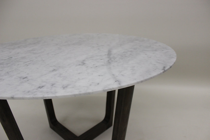47 inch Round Aura Marble Dining Table