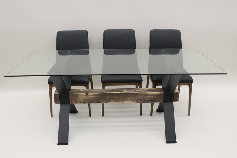 I Beam Modern Farmhouse Dining Table