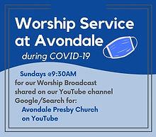 Worship Service during Coronavirus Mask