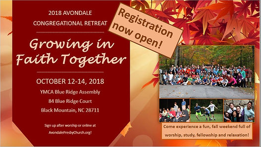 Congregational Retreat 2018 - Announceme
