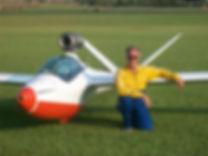 Bob Carlton and the Super Salto jet sailplane
